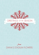Red Snowflake Business Holiday Greeting Card