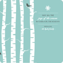 Beautiful Winter Trees Holiday Party Invitation