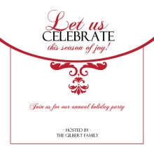 Red Elegance Holiday Party Invitation