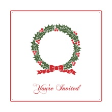 Christmas Wreath Holiday Party Invitation