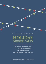 Hanging Party Lights Holiday Dinner Party Invitation
