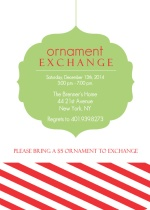 Festive Ornament Exchange Holiday Party Invitation