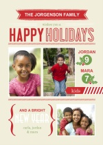 Happy Highlights Holiday Photo Card