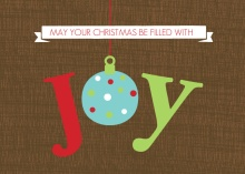 Joy Ornament Christmas Card