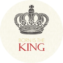 King's Crown Circle Christmas Card