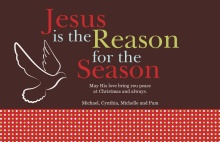 Jesus Is The Reason Christmas Card