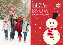 Red Let It Snow Holiday Photo Card