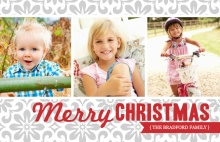 Elegant Gray Christmas Photo Card