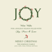 Elegant Holiday Wreath Christmas Card