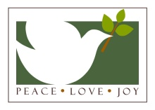Peaceful White Dove Holiday Card