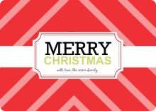 Red Gift Wrap Christmas Card