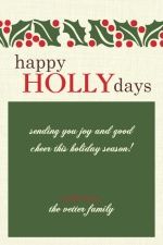 Happy HOLLYdays Holiday Card