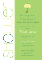 Colorful Green Shower  Baby Shower Invite