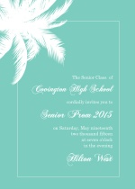 Turqoise Tropical Paradise Prom Invitation