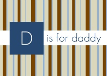 Brown Stripes Letter D