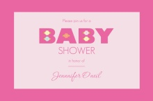 Bold Pink Baby Girl Shower Invitation