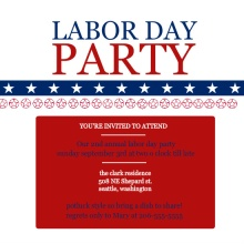 Labor Day Patriotic Party Invite