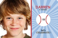Baseball Boys Birthday Party Invitation