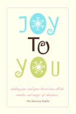 Joy To You Christmas Card