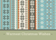 Country Chic Christmas Card