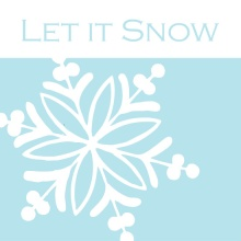 Let it Snow Christmas Card