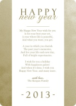 Glittering Happy New Year Greeting Card