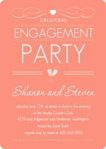 Elegant Dusty Rose Engagement Party Invite