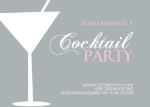 Cocktail Silhouette Party Invitation