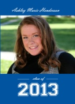 Royal Blue Graduation Announcement