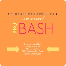 Orange Modern BBQ Bash Party Invitation