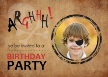 Pirate Party Photo Birthday Invitation