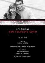 Black and Pink New Years Party Invite