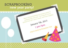 New Year Scrapbooking Party Inivite