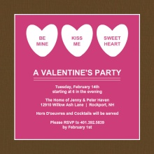 Sweet Candy Hearts Valentine's Day Party Invitation