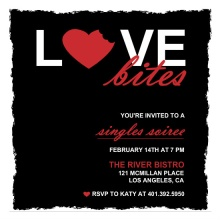 Love Bites Valentine's Day Party Invitations