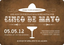 Western White and Brown Cinco De Mayo Invitation