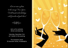 Champagne Glasses New Years Invite