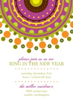 Colorful Circles New Years Party Invitation