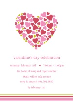 Heart Full of Hearts Valentine's Day Party Invitation