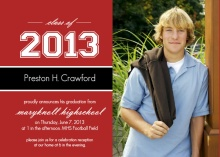 Classic Red  Graduation Announcement
