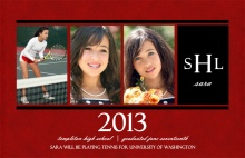 Maroon Photo Graduation Announcement