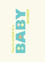 Simple Spring  Baby Shower Invite