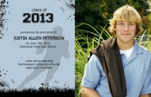Graduation Announcement Football Player