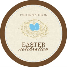 Egg Nest Easter Party Invitation