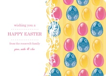 Colorful Eggs Easter Card