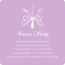 Elegant Lavander Silverware Easter Party Invitation