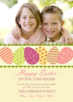 Swirly Easter Eggs Easter Card