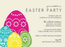 Colorful Eggs Easter Party Invitation