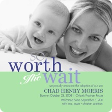 So Worth The Wait Photo Adoption Annoucement