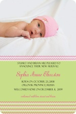 Green and Pink Photo Adoption Announcement